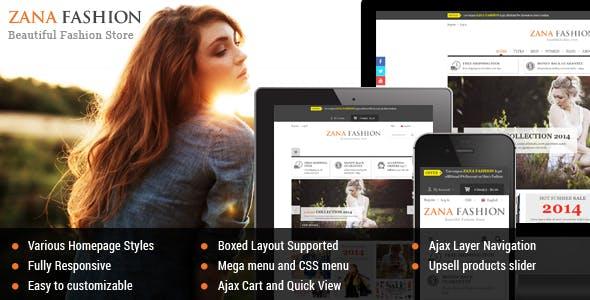Zana Fashion - Responsive Magento 1.9 Theme