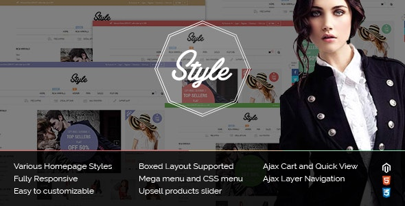 Style - Responsive Multipurpose Magento Theme - Fashion Magento