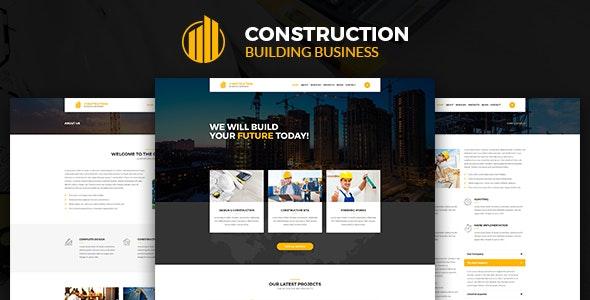 Construction – Construction Building Business PSD Template - Business Corporate
