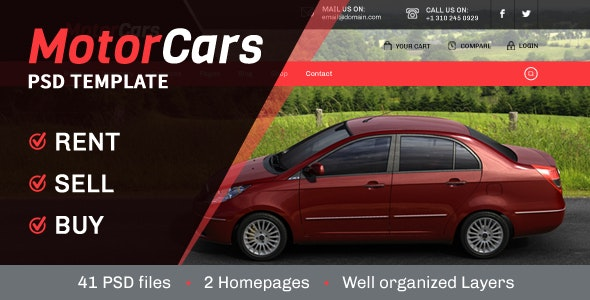 MotorCars - Rent-Sell-Buy Cars - Business Corporate