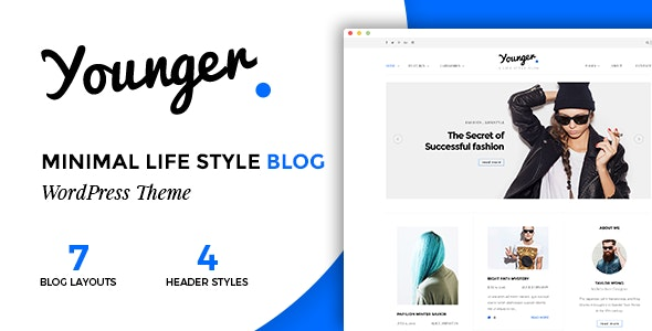 Younger Blogger - Personal Blog Theme - Personal Blog / Magazine