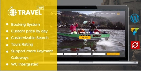 Travel Tour Booking WordPress Theme - Travel Retail