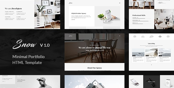 Snow  Portfolio HTML Template by unvab