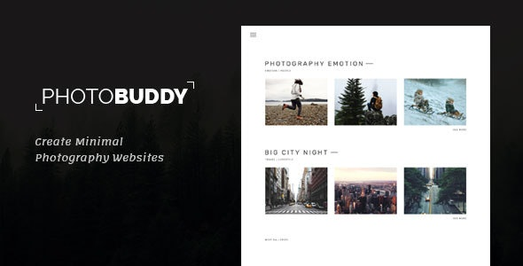 Photobuddy | Photography PSD Template - Photography Creative