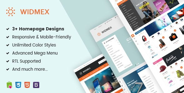 Widmex - Multi-Purpose Premium Responsive Prestashop Theme - Shopping PrestaShop