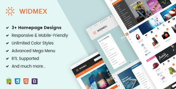 Widmex - Multi-Purpose Premium Responsive Prestashop Theme
