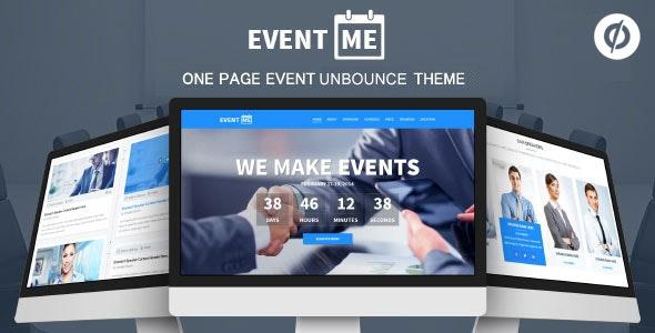 EventMe - Corporate Event Landing Unbounce Theme - Unbounce Landing Pages Marketing