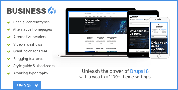 Business8 - Drupal 8 Mega-Theme for Corporate/Business Sites - Corporate Drupal