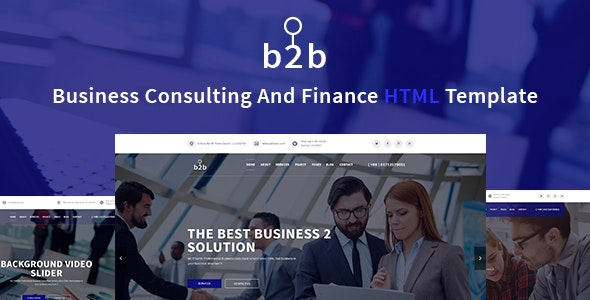B2B - Business, Consulting, Finance & Corporate Template - Business Corporate