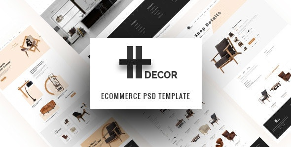 H Decor – Creative PSD Template for Furniture Business Online - Retail Photoshop