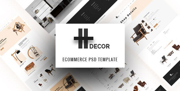 H Decor – Creative PSD Template for Furniture Business Online