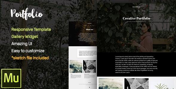 Portfolio Adobe Muse CC Responsive Template + Gallery Widget - Creative Muse Templates