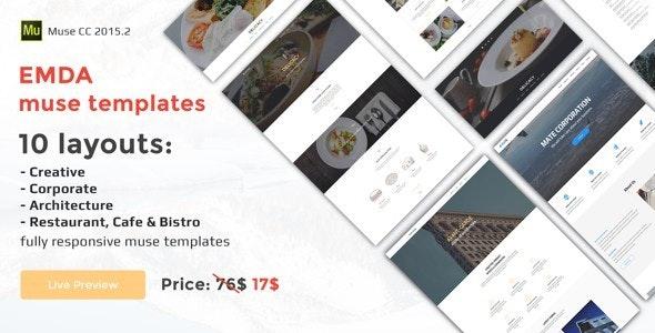 EMDA Muse responsive templates - Creative Muse Templates