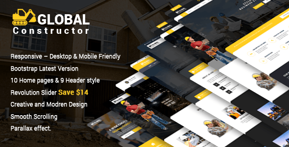 Global Constructor - Construction Single Page Bootstrap Template - Corporate Site Templates