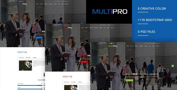 MULTIPRO - Creative Onepage PSD Template - Portfolio Creative