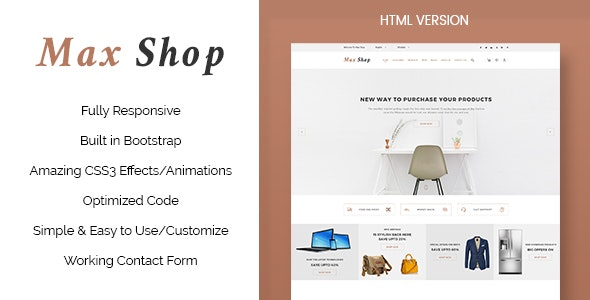 Max Shop - Ecommerce HTML Template - Shopping Retail