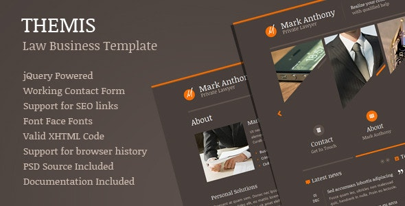 Themis - Law Lawyer Business Template - Corporate Site Templates