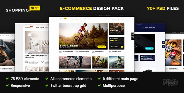 Shopping – multipurpose responsive e-commerce PSD template - Shopping Retail