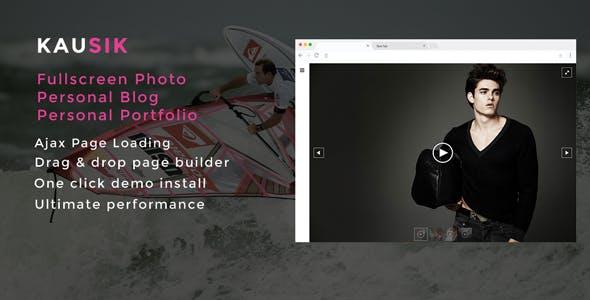 Kausik Ajax Driven Fullscreen Photography Personal Blog and Portfolio Theme