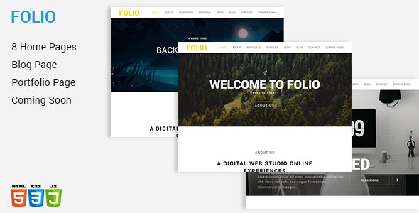 FOLIO - One Page HTML5 Template - Creative Site Templates