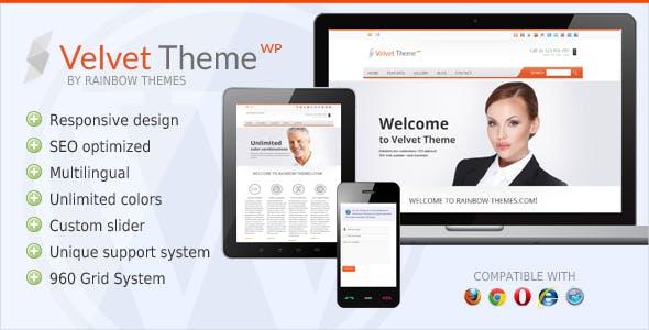 Velvet: Clean, Responsive WordPress Theme