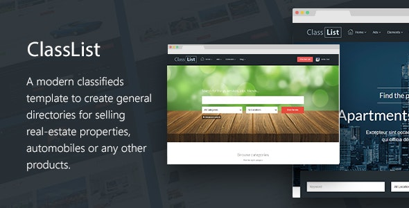 ClassList - Directory/Classifieds Listing Template - Shopping Retail