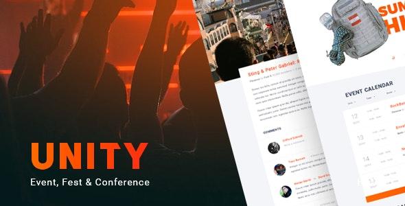 Unity – Event, Fest & Conference WordPress theme - Events Entertainment