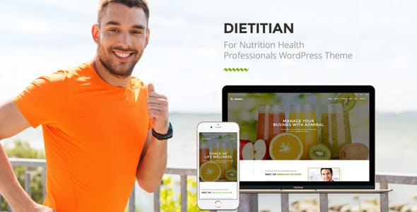 Dietitian - Nutrition Health Professionals WordPress Theme