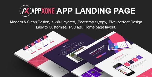 Appxone App Landing Page - Corporate Photoshop
