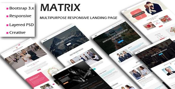 MATRIX - Multipurpose Responsive HTML Landing Pages - Landing Pages Marketing