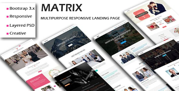 MATRIX - Multipurpose Responsive HTML Landing Pages