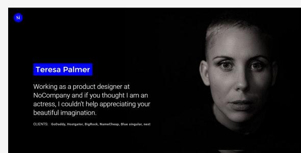 Singular Minimal Personal Portfolio Template - Portfolio Creative