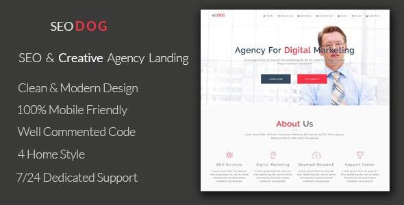 SEODOG - SEO & Creative Agency Landing Template - Marketing Corporate