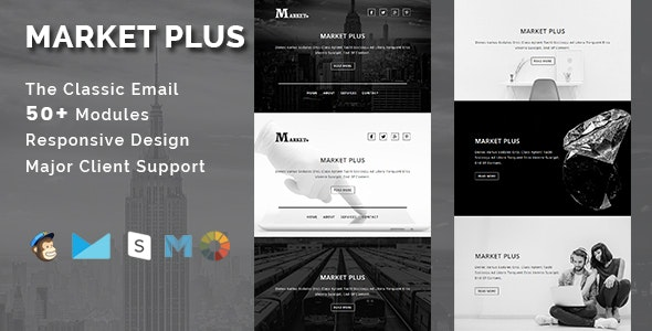 MARKET PLUS - Multipurpose Responsive Email Template - Email Templates Marketing