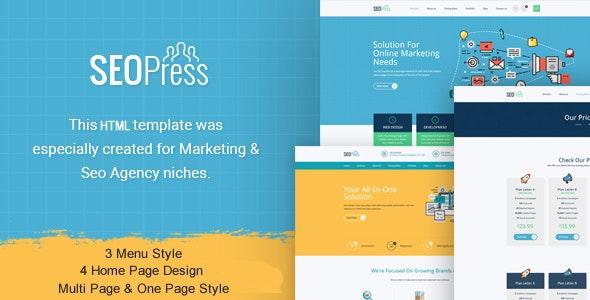 Seo Digital Marketing Agency HTML Template - Marketing Corporate