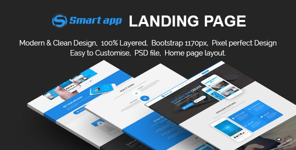 Smart App Landing Page - Photoshop UI Templates