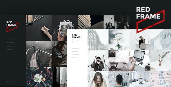 Red Frame - Portfolio Muse Template - Creative Muse Templates