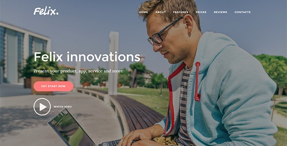 Felix. - Startup Landing Page WordPress Theme - Marketing Corporate