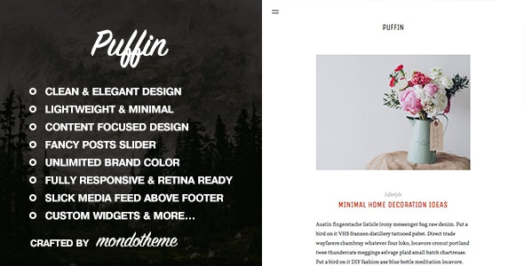Puffin - Responsive Ghost Theme - Ghost Themes Blogging