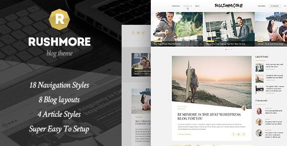 RushMore - A Responsive WordPress Blog Theme - Blog / Magazine WordPress