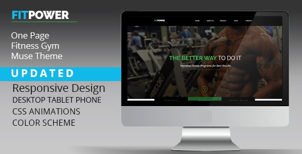 Download Fitpower One Page Muse Template