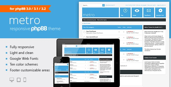 PhpBB Themes from ThemeForest