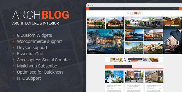 Architect Blog & Portfolio WordPress Theme - Blog / Magazine WordPress