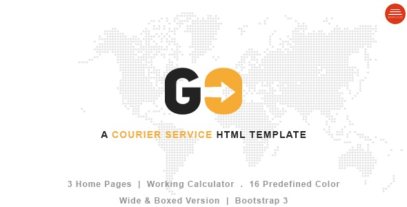 GO – A Courier & Delivery Service HTML Template - Business Corporate