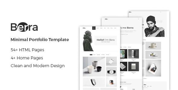Berra - Minimal Personal Portfolio HTML Template - Portfolio Creative
