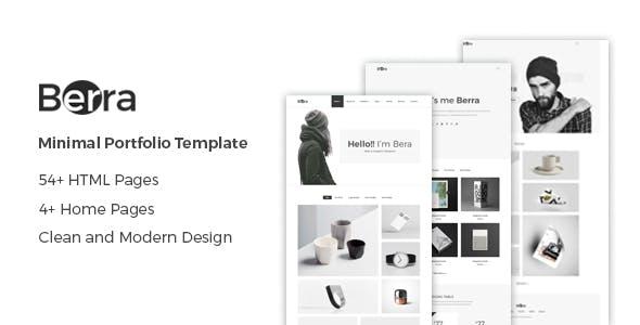 Berra - Minimal Personal Portfolio HTML Template
