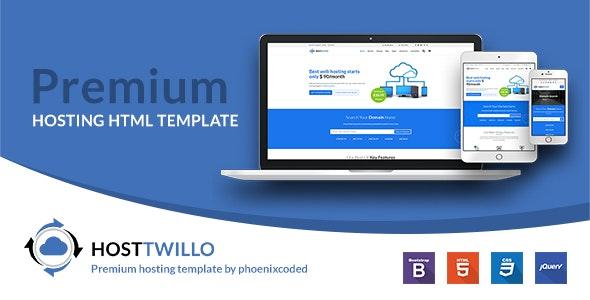 HostTwillo Responsive Hosting HTML Template - Hosting Technology