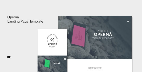 Operna - Multi purpose, Onepage Landing Template - Technology Site Templates