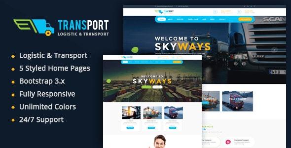 Transport - Logistics / Transportation Business HTML Template - Business Corporate