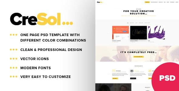 CreSol ... Business Portfolio PSD Template - Corporate Photoshop